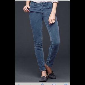 GAP Always Skinny blue corduroy jeans 31 NWOT